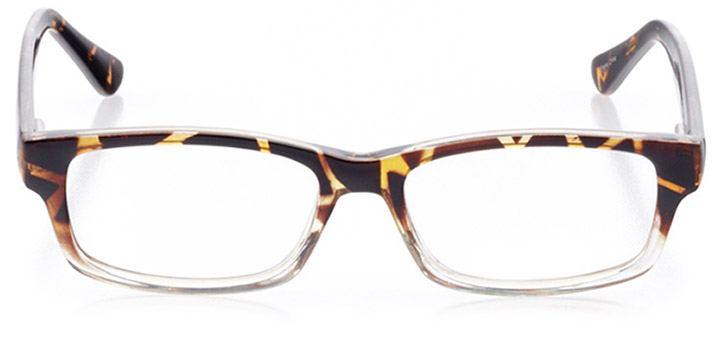 st. simons island: women's rectangle eyeglasses in tortoise - front view