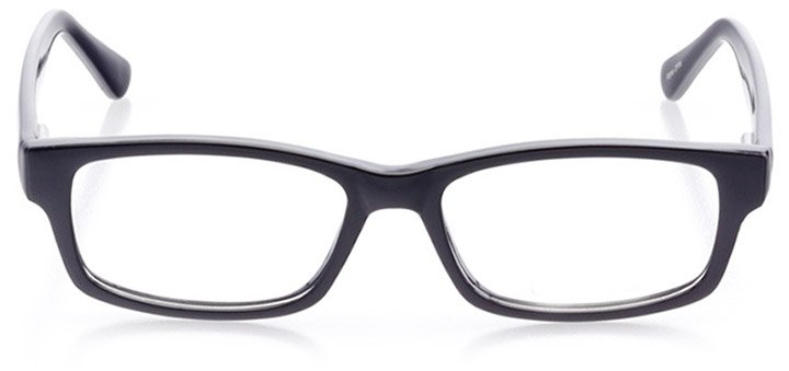 st. simons island: women's rectangle eyeglasses in black - front view