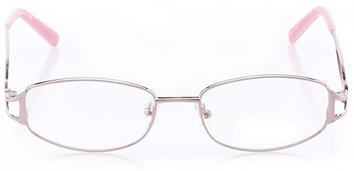 pacific city: women's oval eyeglasses in pink - front view