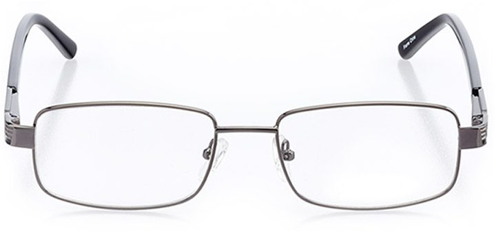 costa brava: men's rectangle eyeglasses in gray - front view