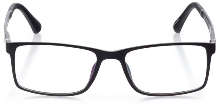 baden: men's square eyeglasses in black - front view
