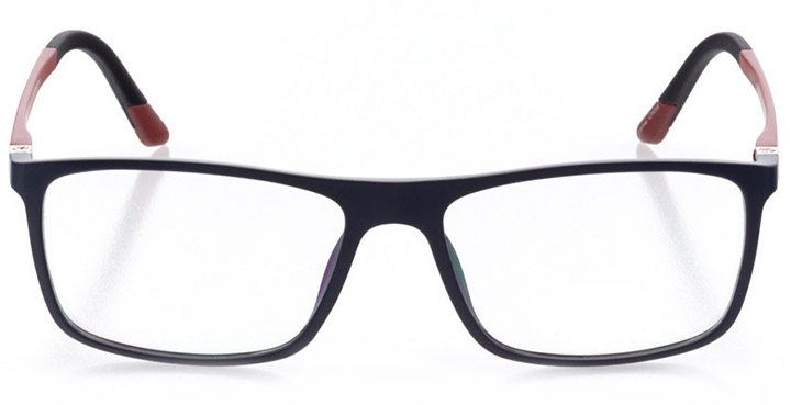 nyon: men's square eyeglasses in red - front view