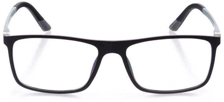 nyon: men's square eyeglasses in black - front view