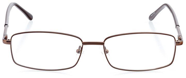 alghero: men's rectangle eyeglasses in brown - front view