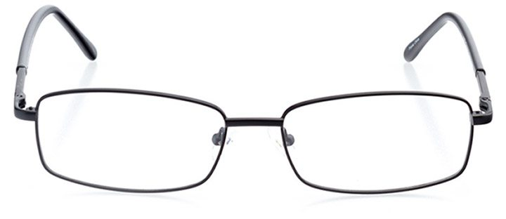 alghero: men's rectangle eyeglasses in black - front view