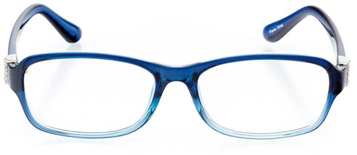 braga: women's rectangle eyeglasses in blue - front view
