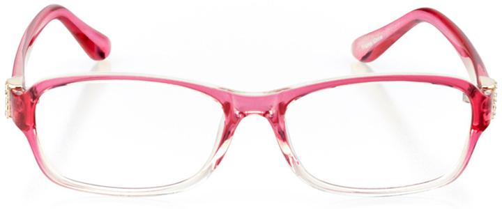 braga: women's rectangle eyeglasses in pink - front view