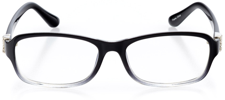 braga: women's rectangle eyeglasses in black - front view