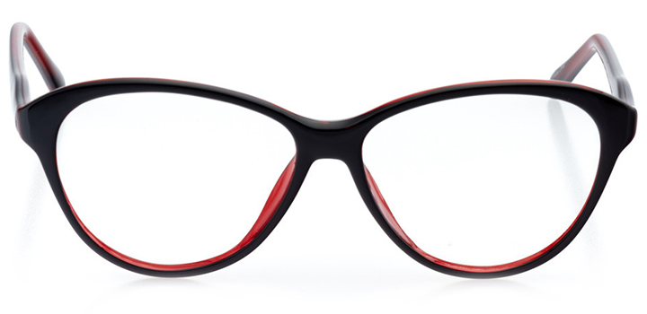 dresden: women's cat eye eyeglasses in black - front view