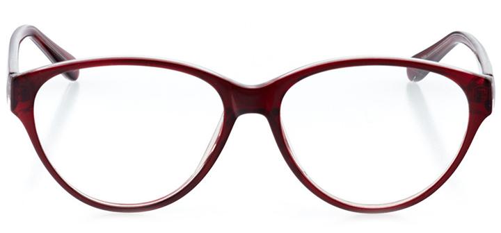 sydney: women's cat eye eyeglasses in red - front view