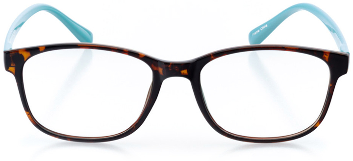san juan: women's square eyeglasses in tortoise - front view