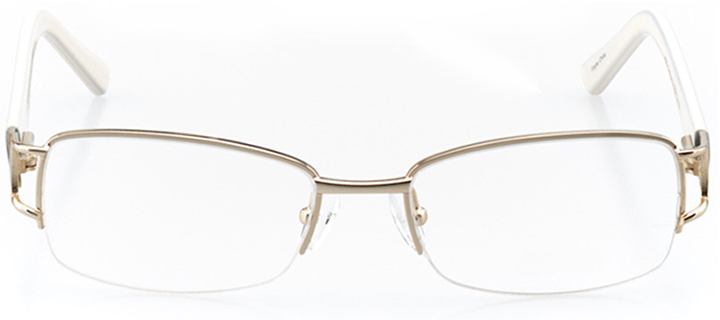 sofia: women's rectangle eyeglasses in gold - front view
