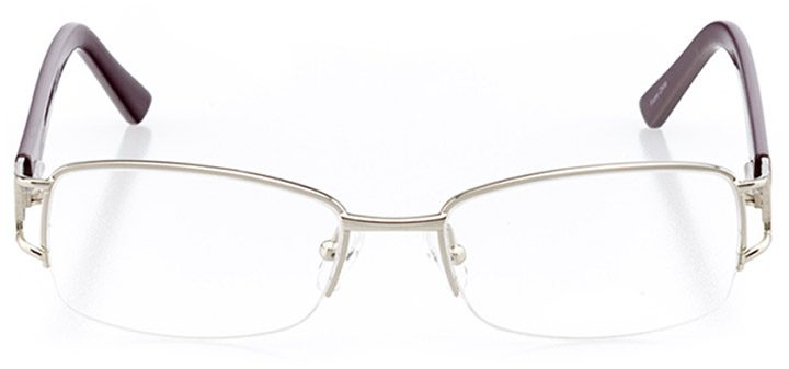 sofia: women's rectangle eyeglasses in silver - front view
