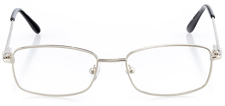melilla: women's rectangle eyeglasses in black - front view