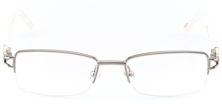 calais: women's rectangle eyeglasses in silver - front view