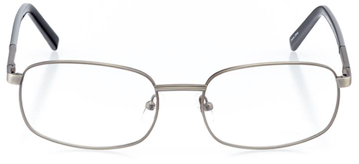 cortez: men's rectangle eyeglasses in gray - front view