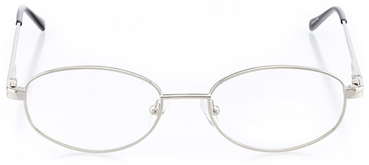 chandler: women's oval eyeglasses in silver - front view