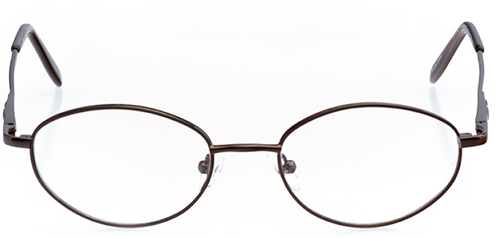 aurora: women's oval eyeglasses in brown - front view