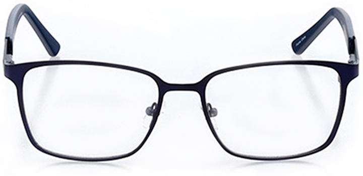 stockton: men's square eyeglasses in blue - front view