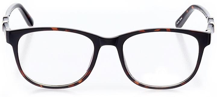 carpi: women's square eyeglasses in brown - front view