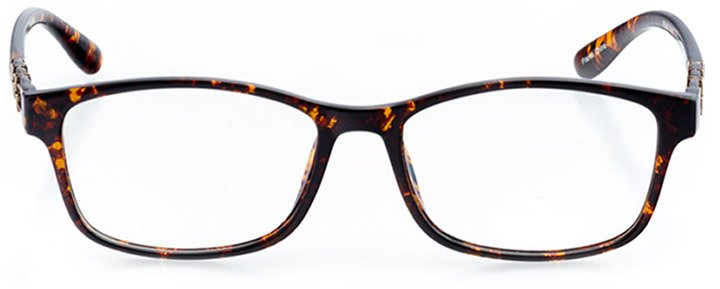 imola: women's rectangle eyeglasses in tortoise - front view