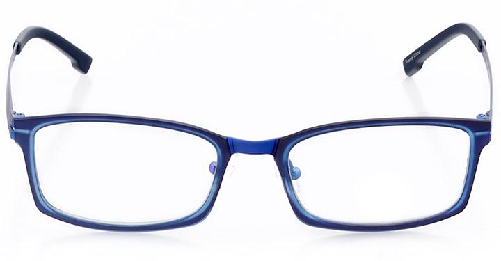 benidorm: men's rectangle eyeglasses in blue - front view
