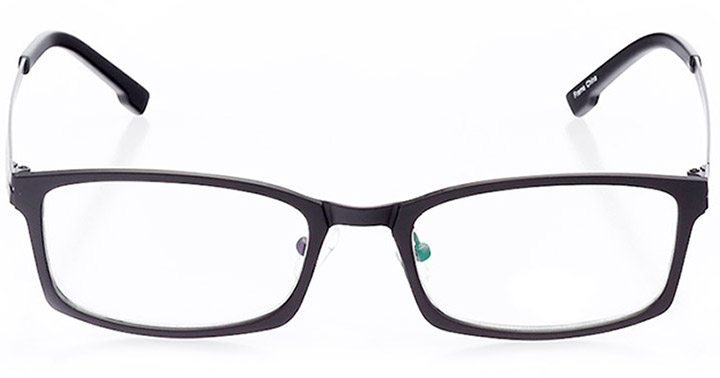 benidorm: men's rectangle eyeglasses in black - front view