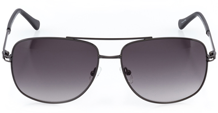 hollywood: men's wrap sunglasses in gray - front view