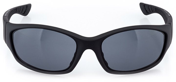 cully: men's wrap sunglasses in black - front view