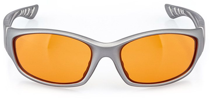 cully: men's wrap sunglasses in gray - front view