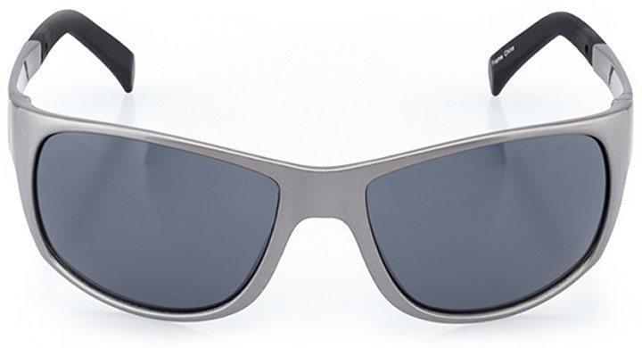 emmen: men's wrap sunglasses in gray - front view