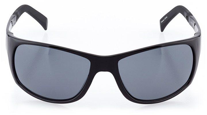 haute-savoie: men's wrap sunglasses in black - front view