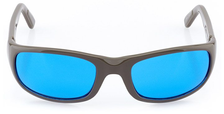 liestal: men's wrap sunglasses in gray - front view