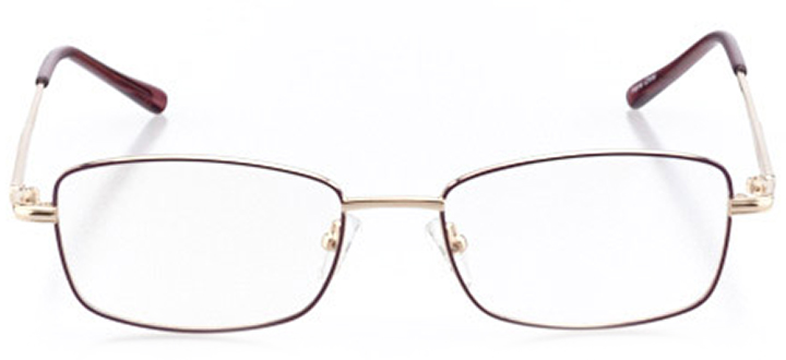 marietta: women's rectangle eyeglasses in gold - front view