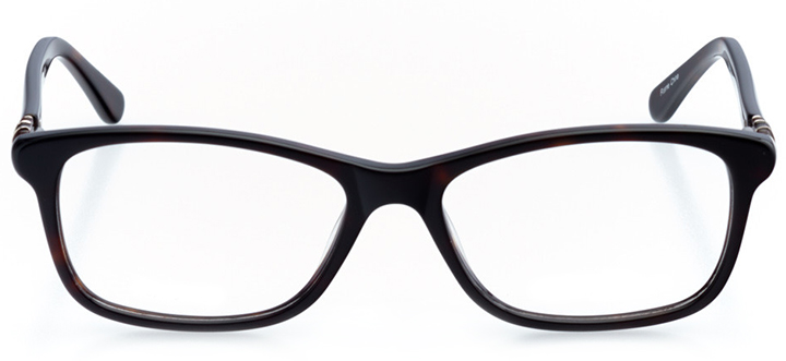 limoges: women's rectangle eyeglasses in tortoise - front view