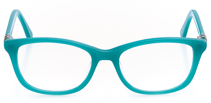 arue: women's square eyeglasses in green - front view
