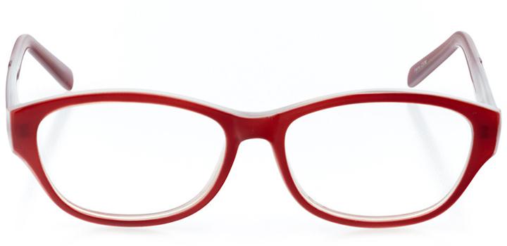 prague: women's cat eye eyeglasses in red - front view
