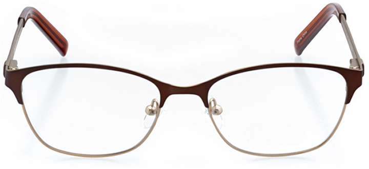 saratoga springs: women's oval eyeglasses in brown - front view