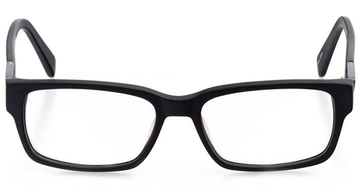 rockland: men's square eyeglasses in black - front view