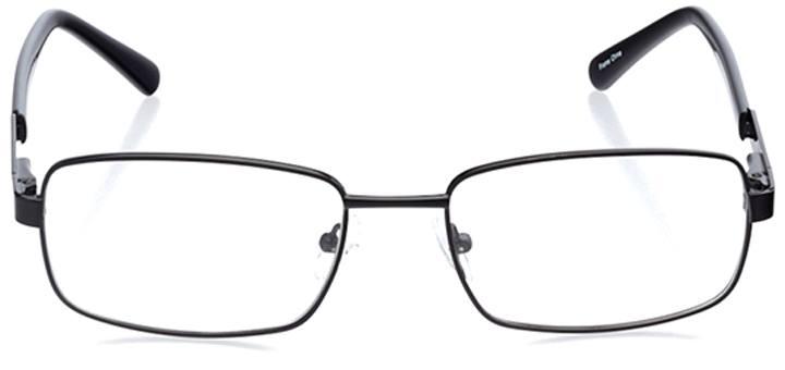 monza: men's rectangle eyeglasses in black - front view
