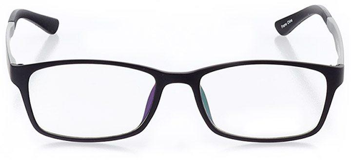 la jolla: men's rectangle eyeglasses in black - front view