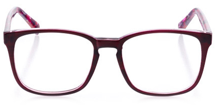 ashland: women's square eyeglasses in orange - front view