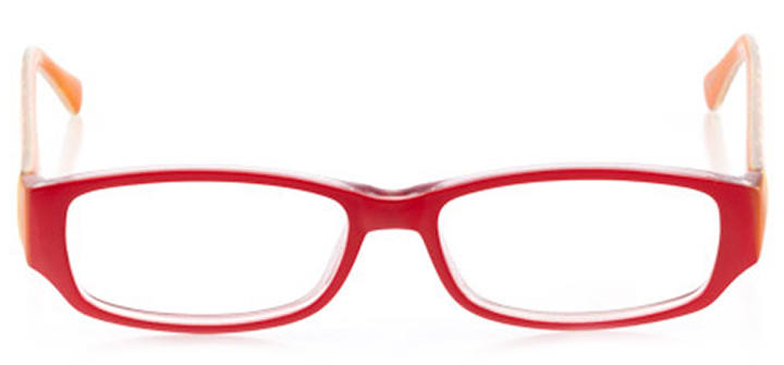 virginia beach: women's rectangle eyeglasses in red - front view