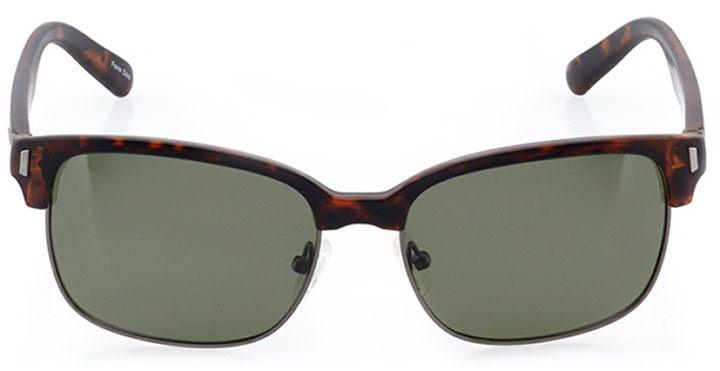 faro: women's cat eye sunglasses in gray - front view