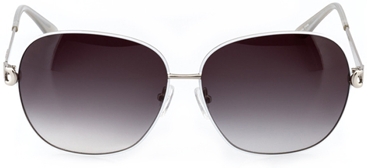 saint-pierre: women's oval sunglasses in white - front view