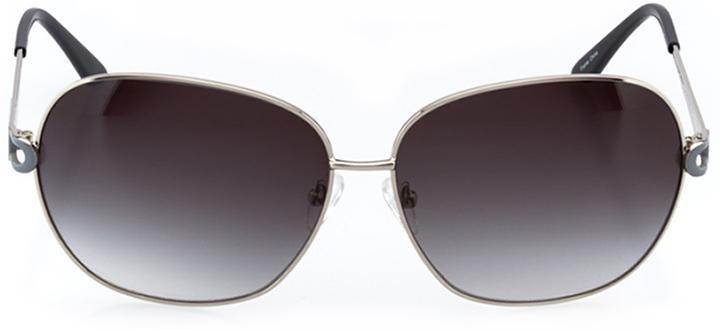 saint-pierre: women's oval sunglasses in silver - front view