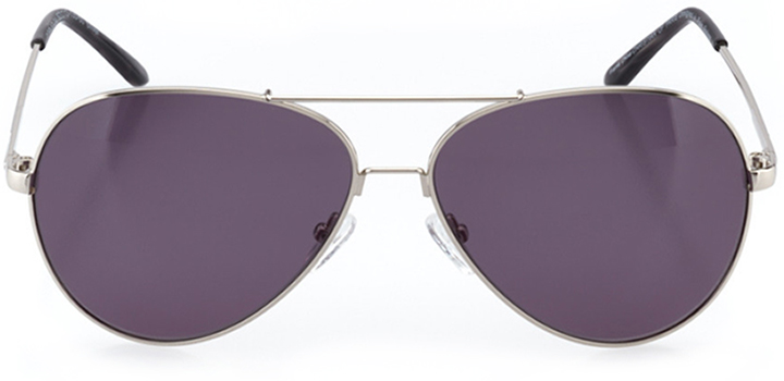 la rochelle: women's aviator sunglasses in silver - front view