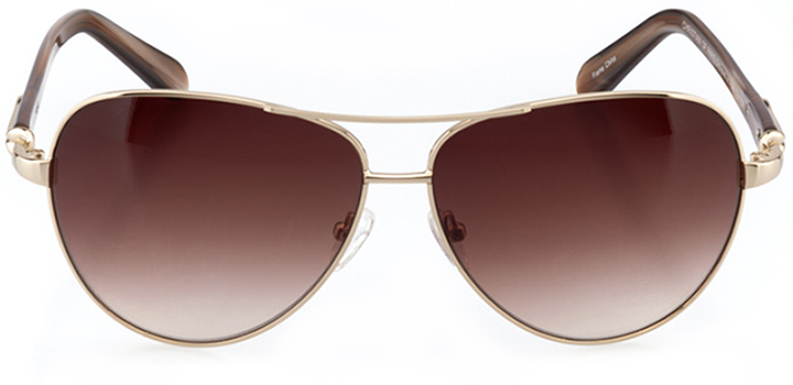 cannes: women's aviator sunglasses in gold - front view