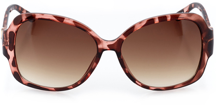 mantes-la-jolie: women's butterfly sunglasses in pink - front view