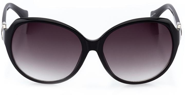 saint-malo: women's oval sunglasses in black - front view